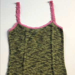 Free People | Green & Pink Knit Camisole | S